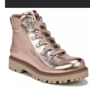 Rose Gold Combat Boots x Circus by Sam Edelman
